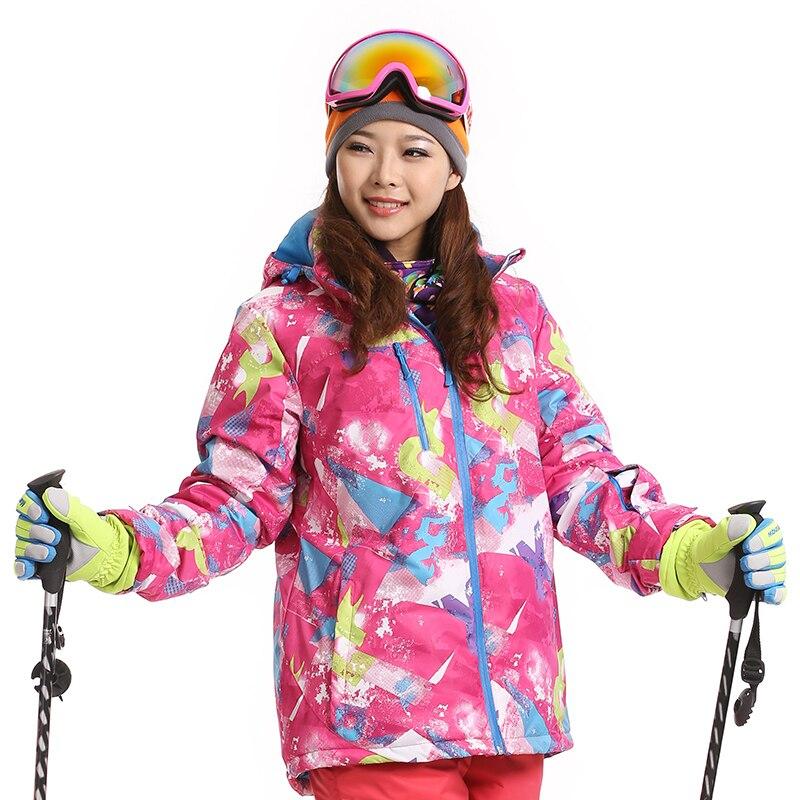 Prix pour Femmes Ski Vestes 100% En Plein Air Plus Chaud Veste Imperméable Coupe-Vent Veste D'hiver Sport Manteaux Pour Ski Camping Randonnée Snowboard