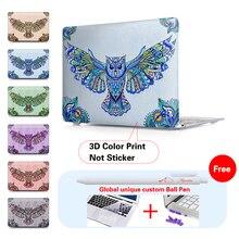 Print águila decorar patrón caso de la cubierta para mac macbook pro 13 15 Aire Retina 11 12 13.3 pulgadas Portátil Shell portátil Accesorios