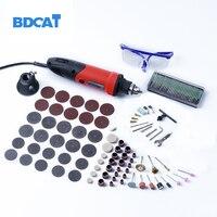 400W 220V Dremel Accessories Variable Speed Electric Mini Drill Grinder 10Pcs 80 Grit Sanding Bands Dremel