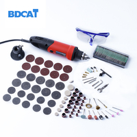400W 220V Dremel Accessories Variable Speed Electric Mini Drill Grinder 10Pcs 80 Grit Sanding Bands Dremel