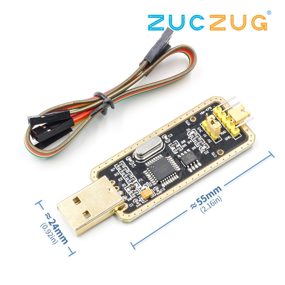 FT232 USB to Serial USB to TTL Upgrade Download CH340G Adapter Brush Board Gold