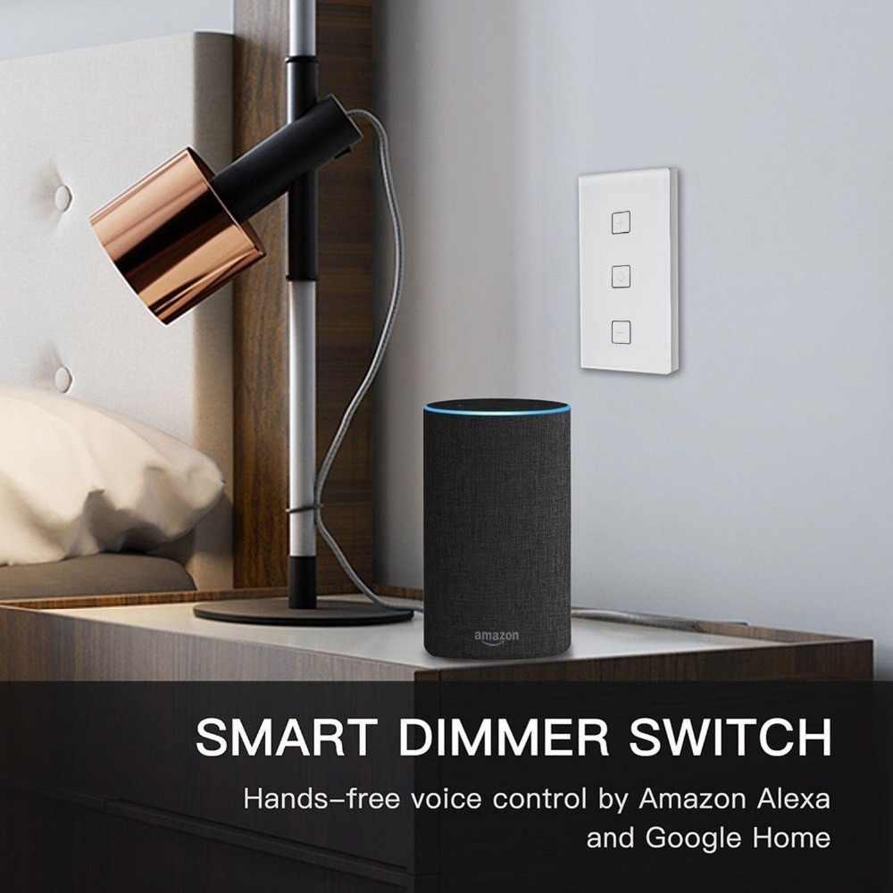 Timethinker WiFi スマートスイッチワイヤレス Led 調光スイッチ壁遮断タッチコントロールの仕事 Alexa エコー Google ホーム