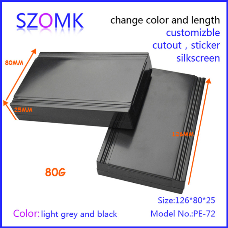 szomk pcb outlet enclosure plastic (4 pcs) 126*80*25mm electronics control enclosure plastic enclosure box switch box