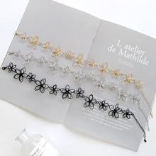 Dandie Trendy Metal Flower Choker Necklace, Shape Chic Jewelry