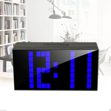 Wall Mount Desktop Snooze LED Digital Alarm Clock Large Display with Temperature Date Countdown Timer for