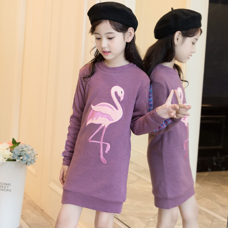 Kids 2018 Autumn Girls Mini Dress Toddler Girls Sweater Pullover Knitted Outerwears Princess Christmas Dress Vestidos Robe Fille