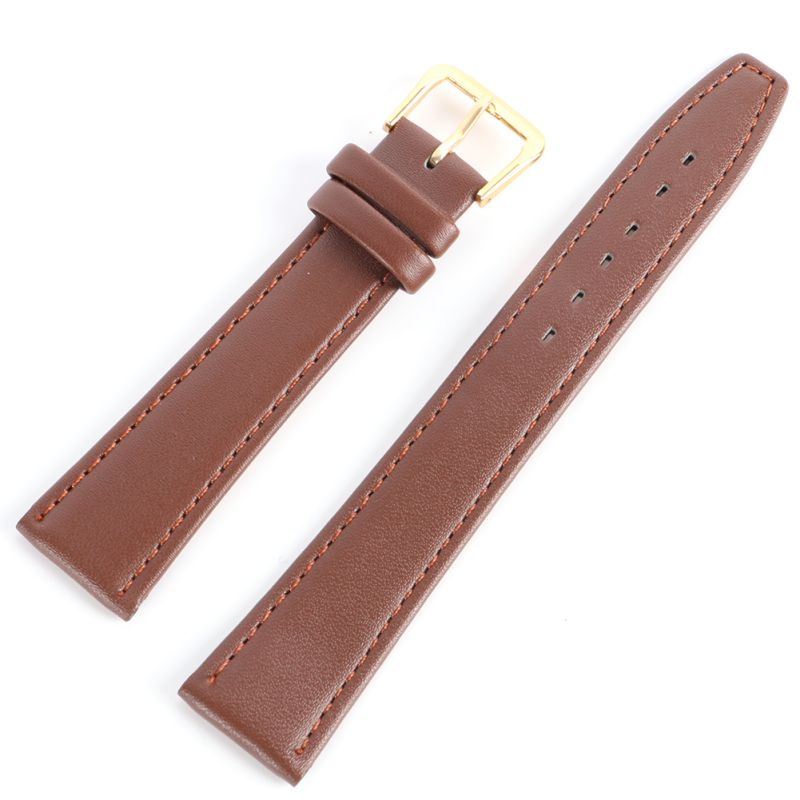 /est / Men Women Durable Soft Pin Buckle Watch Strap PU Leather Watchband  Black & Coffee 12 -20 Mm