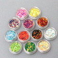 12 pots/set Different Mixed Colored Nail Glitters Rhinestone Horse Eye Type Nail Art Decoration For DIY Nail Beauty Art