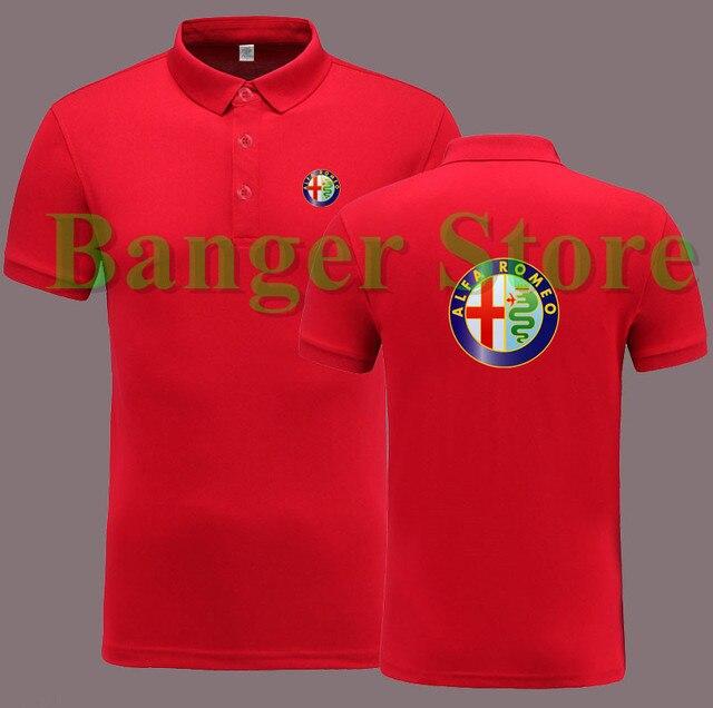 Alfa Romeo 4S loja de camisa PÓLO de manga curta macacão roupa de trabalho  para homens 4348ce1ea51cc