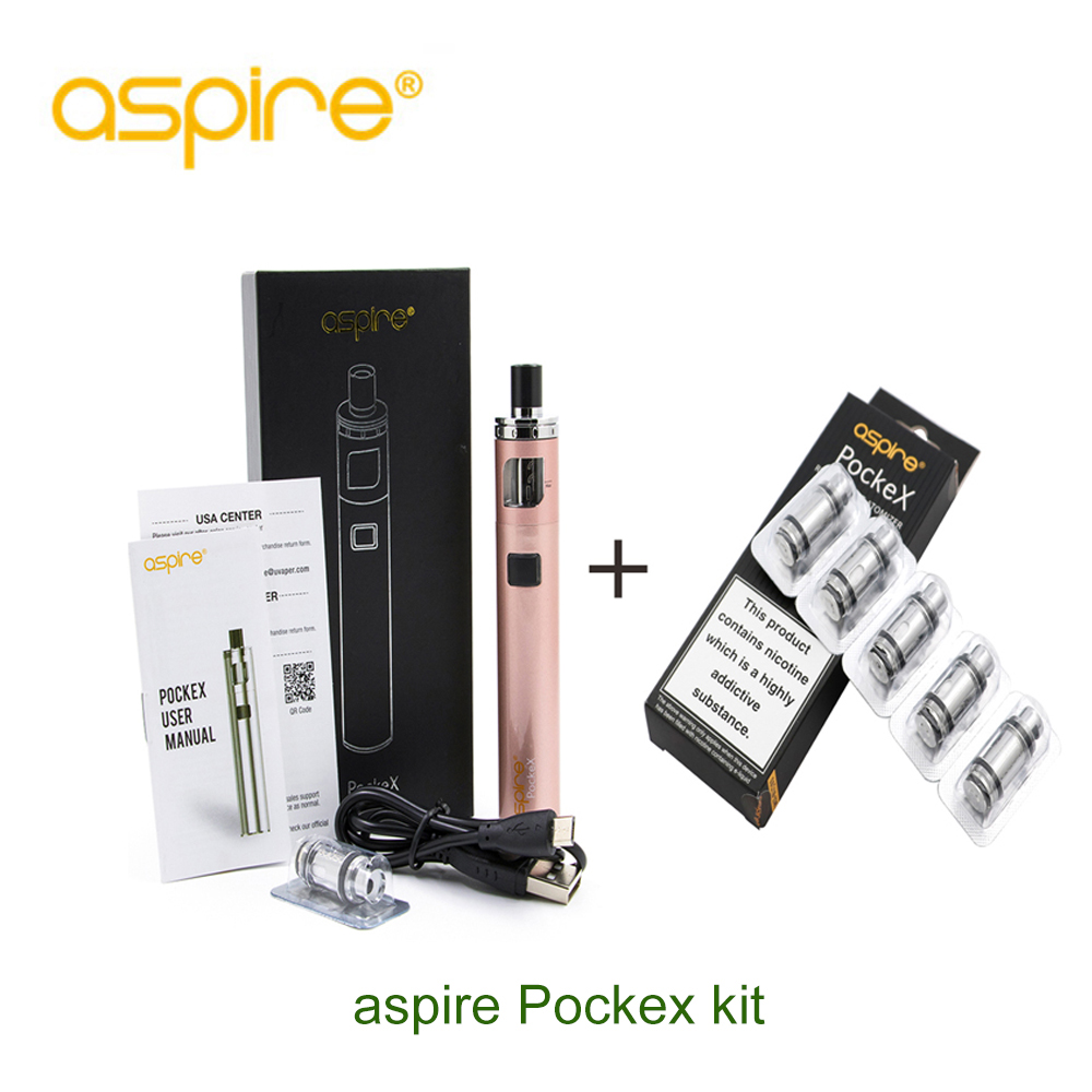Original Aspire PockeX Pocket AIO Kit and 5PCS PockeX coils With 1500mAh Battery Best MTL vapor starter full E-CigOriginal Aspire PockeX Pocket AIO Kit and 5PCS PockeX coils With 1500mAh Battery Best MTL vapor starter full E-Cig