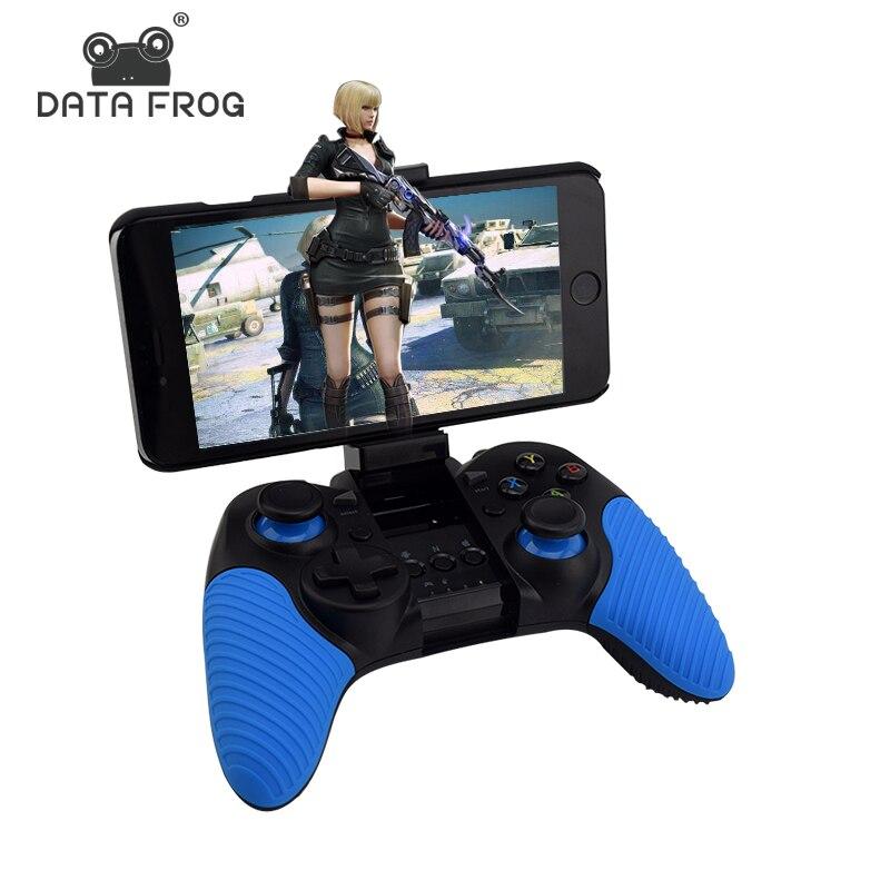 Портативный Беспроводной игровой контроллер Bluetooth для ПК Android/IOS телефон двойной джойстик вибрации Игровые для Android ТВ коробка/ планшеты