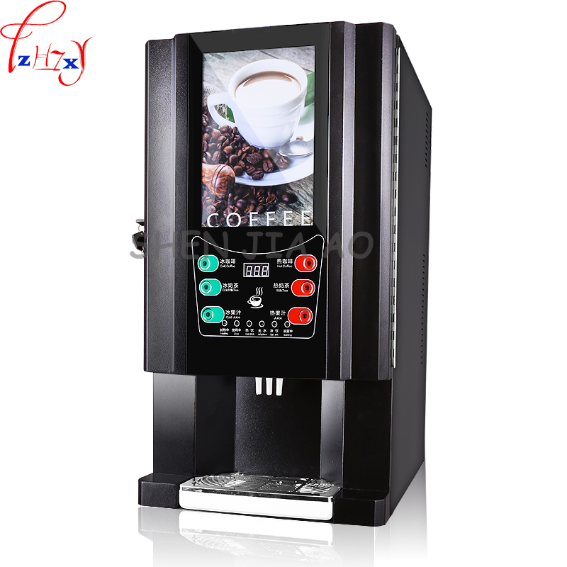 1pc 220V 33-SC instant coffee machine commercial automatic coffee drinks machine milk tea one machine hot and cold dual use стоимость