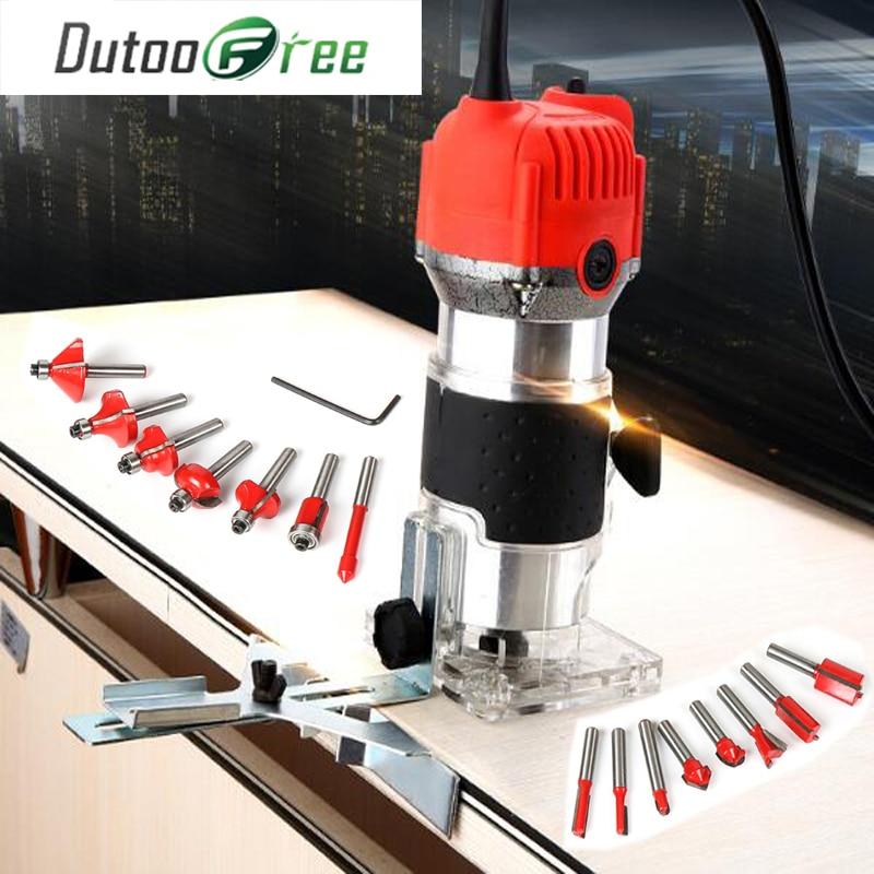 Machine à découper tondeuse électrique prise de bois 30000 tr/min bois routeur coupe en cuir travail du bois bricolage perceuse outils électriques