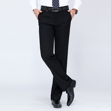 In the spring of 2017 new dress brand men's trousers wrinkle counter thin wool slim pants suit group