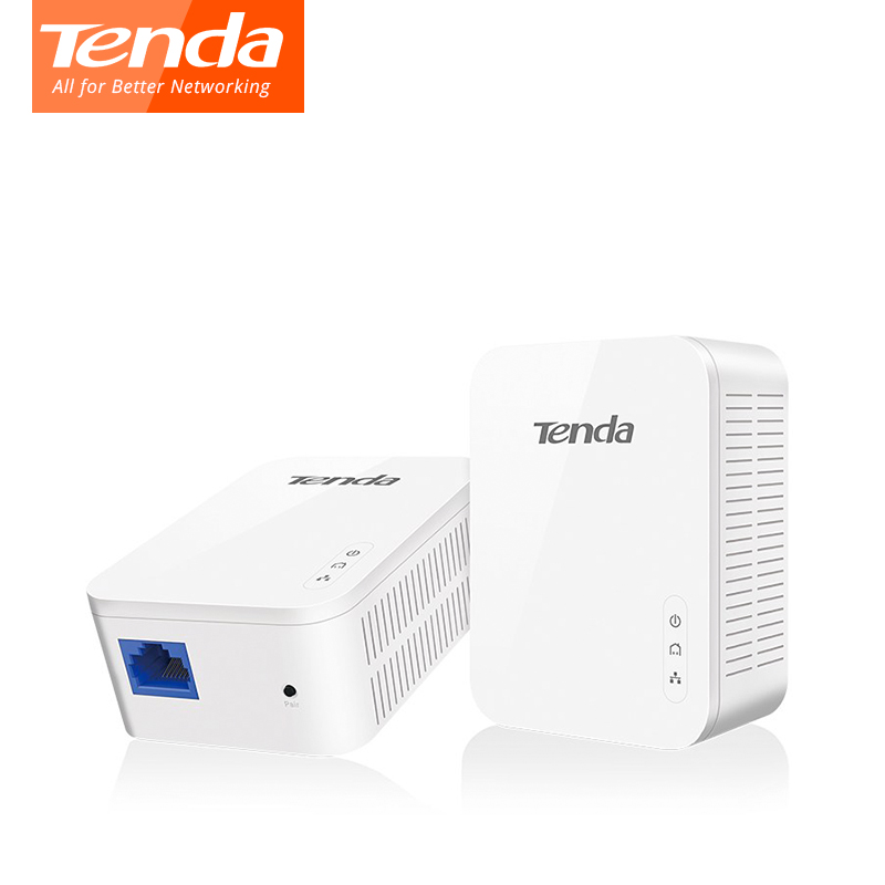 Tenda PH3 AV1000 Gigabit Powerline Adapter AV1000 Ethernet PLC KIT Adattatore IPTV Homeplug AV2 di Rete Gigabit SIM Card e Adattatori Extender