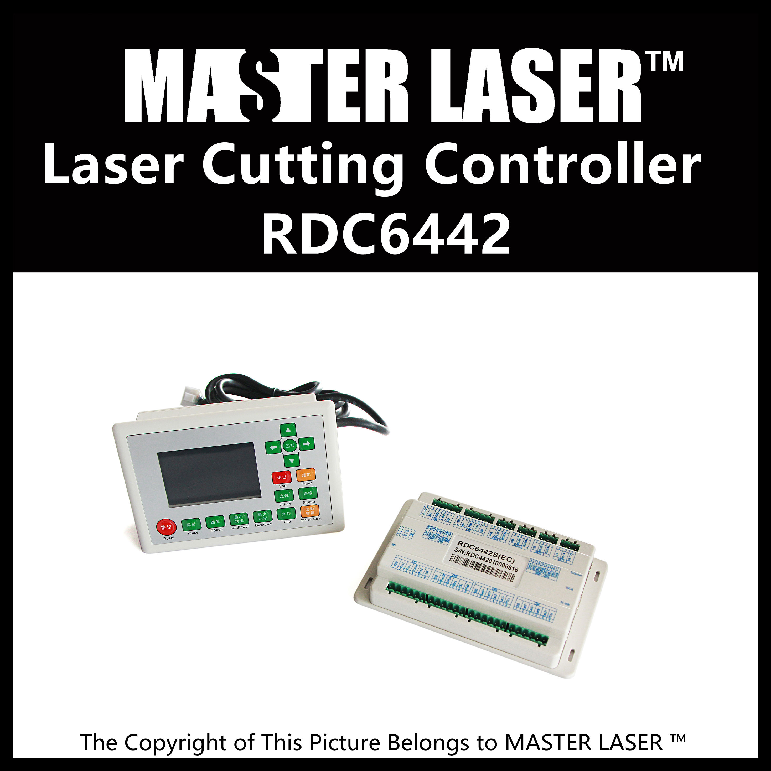 2017 Latest  co2 Laser Controller System RDC 6442G RD Ruida Motion Control Upgrade RD320 hot sales rd 6442 laser controller main board for co2 laser cutting machine