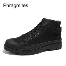 Купить с кэшбэком Phragmites protect toe worker boots winter big size 46 women boots free shipping winter boots women black unisex shoes