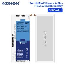 NOHON HB4547B6EBC 3.8V 3600mAh Mobile Phone Li-ion Battery For Huawei Honor 6 Plus PE-TL20 PE-TL10 PE-CL00 PE-UL00/Mate 7 Lite