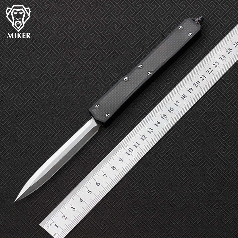 MIKER ants II fixed blade Knife D2 Blade Carbon Fiber Aluminum alloy Handle outdoor EDC hunt