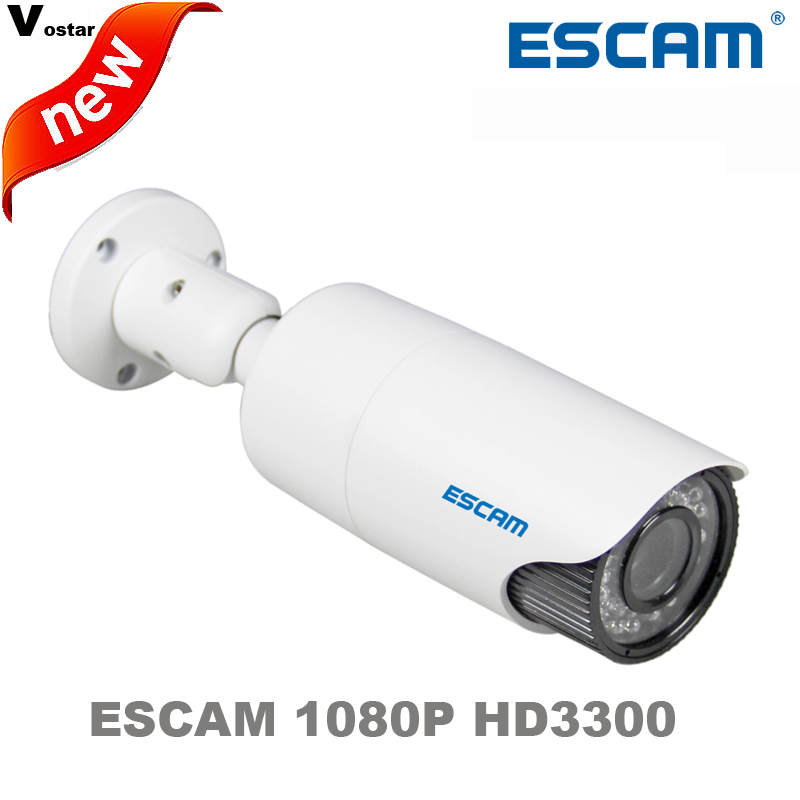 Escam 1 3 Progressive Scan CMOS HD3300V Onvif IP66 Waterproof network camera support POE H 264