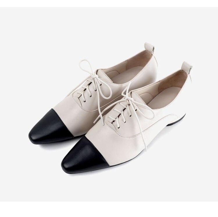 Pie Verano Las Casuales Genuino Planos Mujeres Cuero Del Mujer Negro Zapatos De Mocasines blanco Calzado Dedo rIxrw0v
