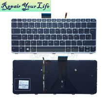 цена на Repair You Life laptop keyboard For HP For Elitebook For FOLIO 1030 G1 Keyboard Backlit SP layout Original New with silver frame