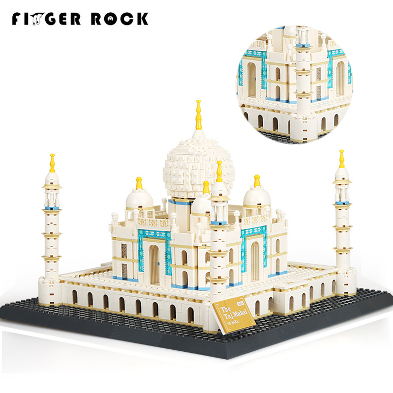 1505PCS Architecture Series Agra Taj Mahal Model Building Blocks Compatible With Brand Educational Bricks Toys For