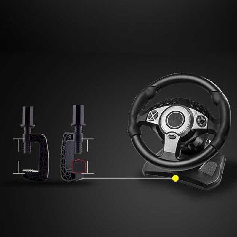 900 degrés jeux de course volant ordinateur apprentissage voiture simulation machine de conduite accélérateur frein levier de vitesse ensemble complet - 5