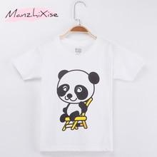 цены 2019 Children T-shirt Panda Cartoon Funny Cotton Short Girl and Boy T Shirts Kids Clothes Baby Tops Child Shirt  Free Shipping