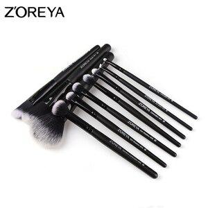 Image 5 - ZOREYA 10pcs Portable Makeup Brush Set for Mascara Eye Powder Eyebrow Cosmetics Tools