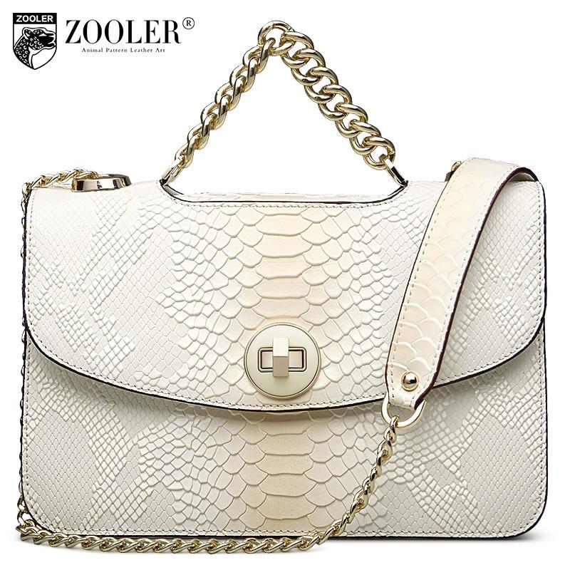 ФОТО ZOOLER 2017 hot bags women messenger bag genuine leather shoulder bags chains handle designed 100% cowhide bolsa feminina#5320