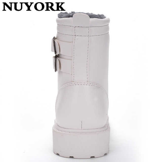 NUYORK 2017 Hot new men leather boots wear resisting casual shoes wither High-top lace-up shoes fashion white flats men boots