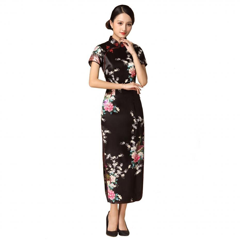 ộ_ộ ༽Autumn New Rayon Chinese Cheongsam Plus Size 3XL-6XL ...