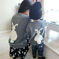 1-5Y Casual Autumn Winter Clothes Cartoon Rabbit Knitted Girls Sweater Baby Outwear Coat Long-Sleeve Boys Sweaters