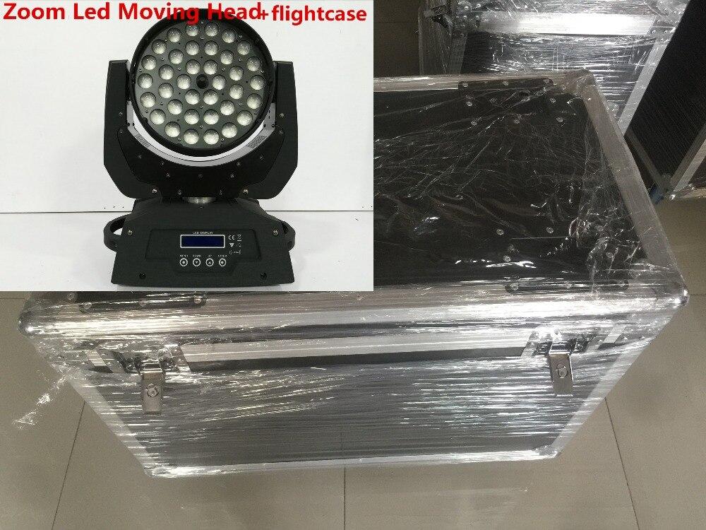 цена на 36x12W 36x15W 36x18W 4in1 5in1 6in1 Zoom Led Moving Head +flightcase Light RGBWA UV DMX Led Moving Head Wash Beam Effect Light