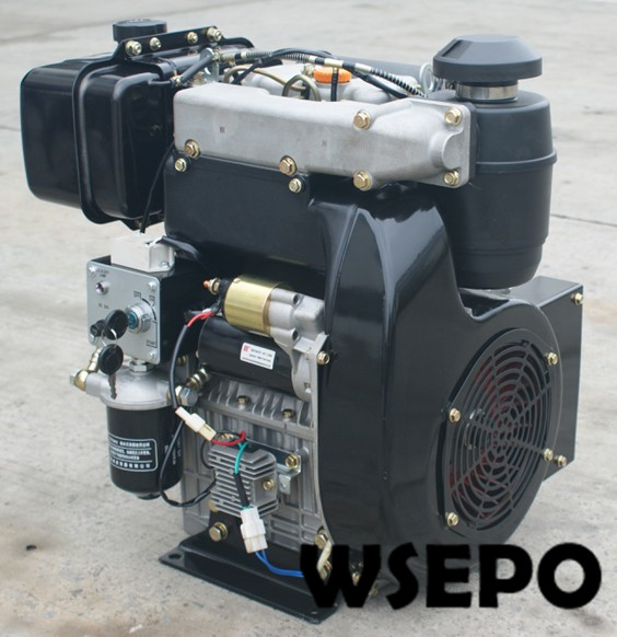 Factory Direct Supply! WSE-292F 997cc 25hp E-Start Double-Cylinder Air Cooled Diesel Engine for Generator/Pump/Air Compressor factory direct supply wse 292f 997cc 25hp e start double cylinder air cooled diesel engine for generator pump air compressor