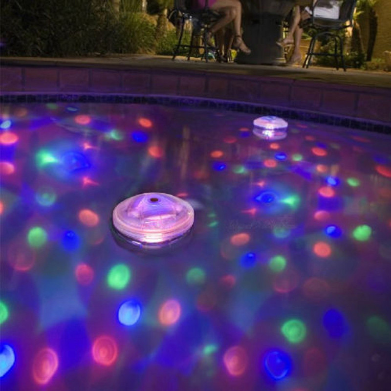 Compuda Glow Party Supplies Floating Underwater Led Disco Light Glow Show Swimming Pool Hot Tub Spa