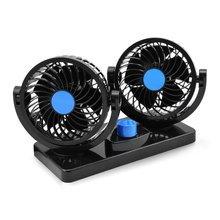 12V Electric Car Fan 360 Degree Rotatable 2 Speed Air Circulator Fan Car Auto Cooling for SUV Boat Vehicles Car Air Conditioning