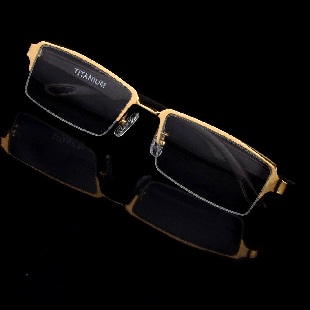 Retro Occhiali Al Titanio Puro Telaio per gli uomini D'affari Occhiali Da Vista maschile Half-Rim Occhiali Da Vista Occhiali Lettura Oculos