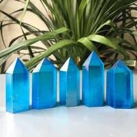 1kg Sıcak satış Doğal mavi enerji kristal Galvanik sütunlar değnek noktası