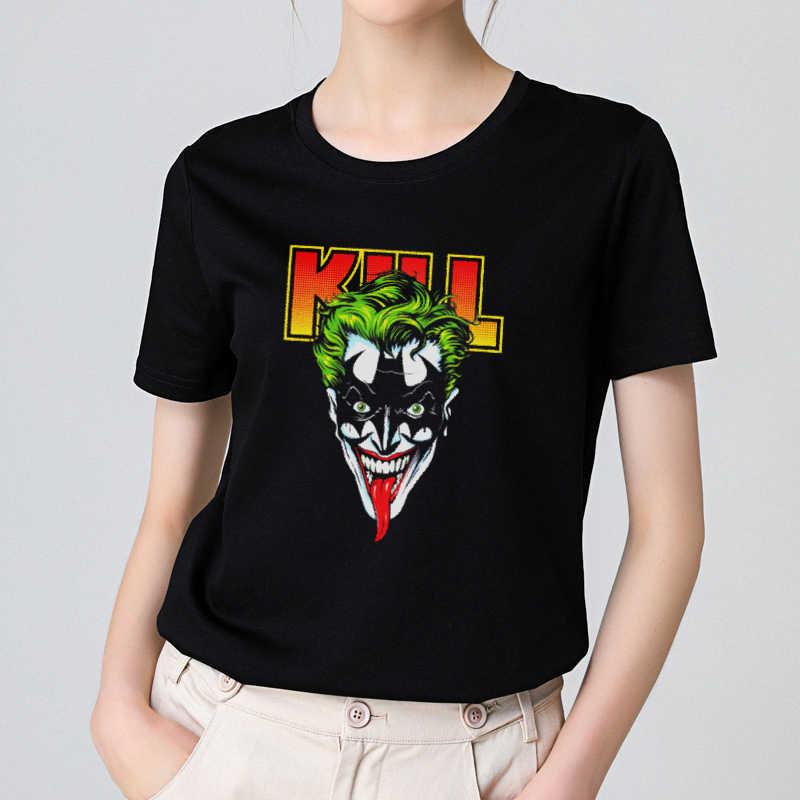 2019 новая хлопковая Женская Футболка harajuku Эстетическая Джокер Kill Batman футболка с коротким рукавом женская футболка Modis топ тройники уличная