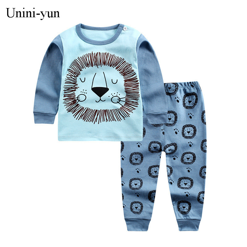 [Unini-yun]Children's Suit Baby Boy Clothes Set Cotton Fashion Brand Infant Sets For Newborn Cute Cartoon Baby Boy Girl Clothing 5pcs baby clothes set newborn baby clothing set baby boy girl clothes cotton cartoon soft baby sets 0 3 months