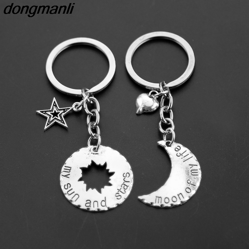 P259 dongmanli 1 pair Game of Thrones Keychain Moon of My Life, My Sun and Stars Sun and moon Couple keychain white hollow moon full of stars necklace page 2