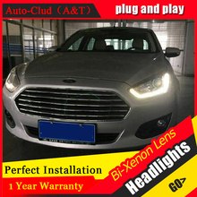 Car Styling LED Head Lamp for Ford Fusion headlights 2015 ESCORT led headlight drl turn signal