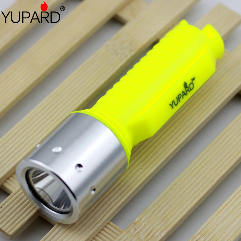 YUPARD Waterproof XM L2 T6 LED Diving Flashlight Underwater Lamp Torch 3 Mode For 18650 rechargeable