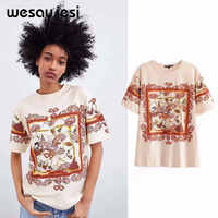 c829314be6e63 JXYSY 2019 t shirt england style short print cartoon mickey o-neck ...