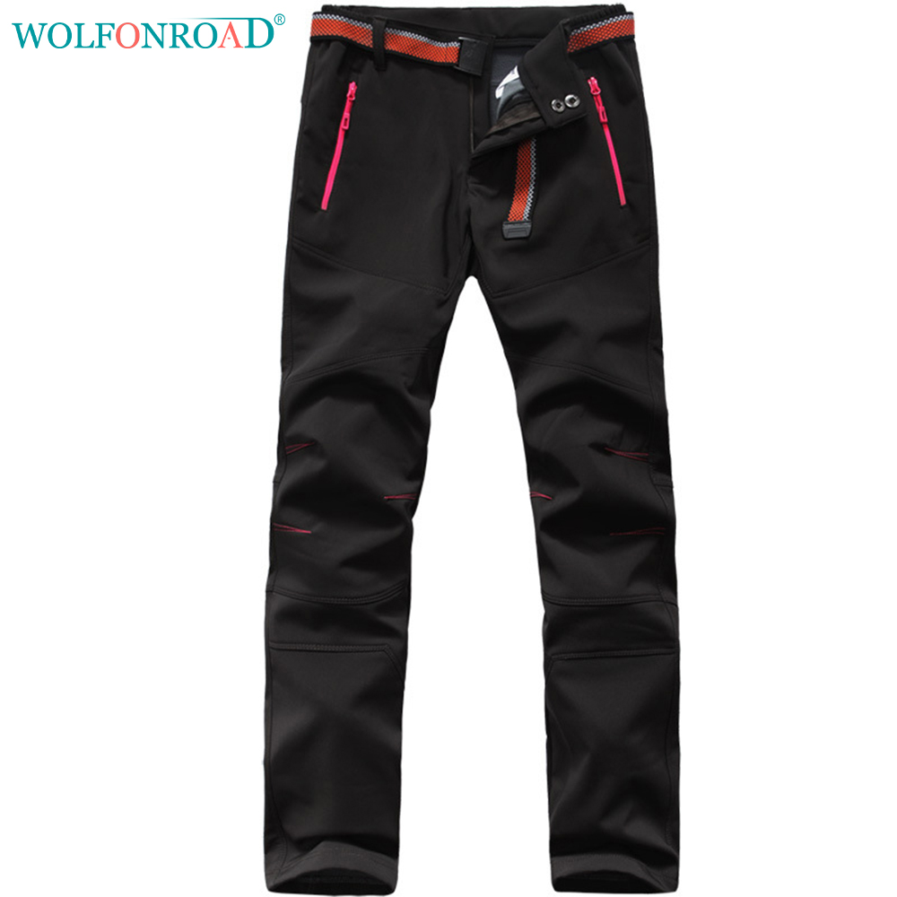 WOLFONROAD Men Pants Waterproof Hiking Pants Winter Soft ...