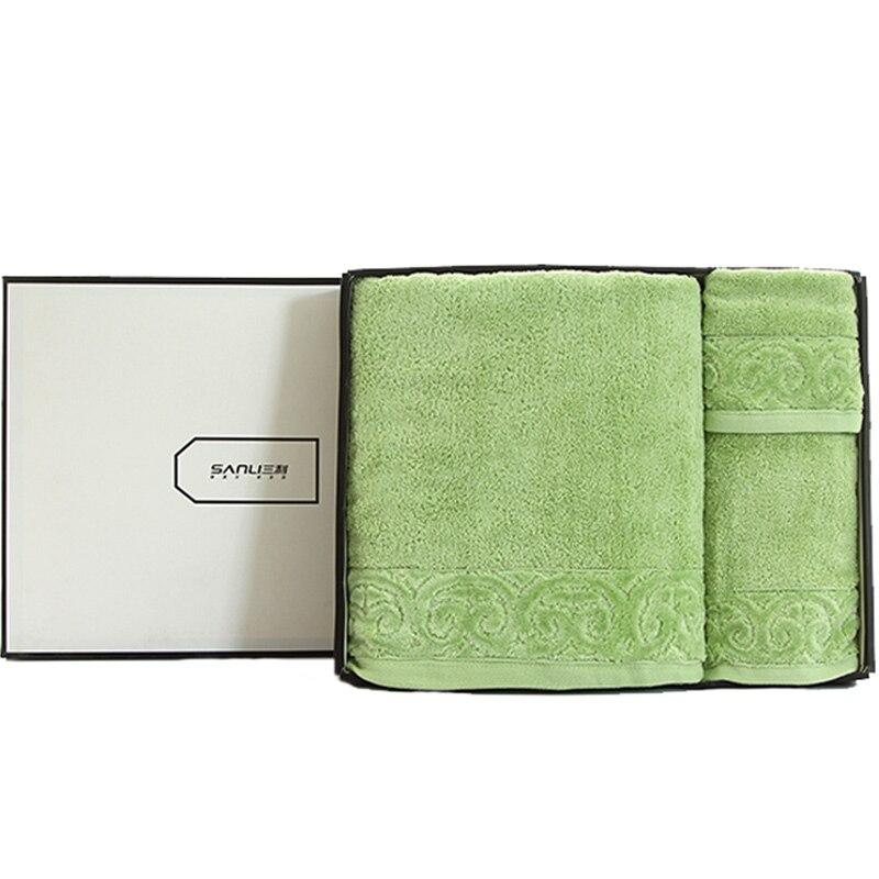 Serviette de bain douce coton doux mâle femelle adultes épaissir noël coton serviette 3 pièces ensemble cadeau boîte coton serviette de bain ensemble B5T62