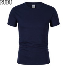 RUBU 2018 summer New High quality men T shirt casual short sleeve o-neck 100% cotton t-shirt men brand white black tee shirt