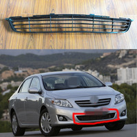 1 PC Mesh Front Bumper Center Lower Grille Grill For Toyota Coralla 2007 2009